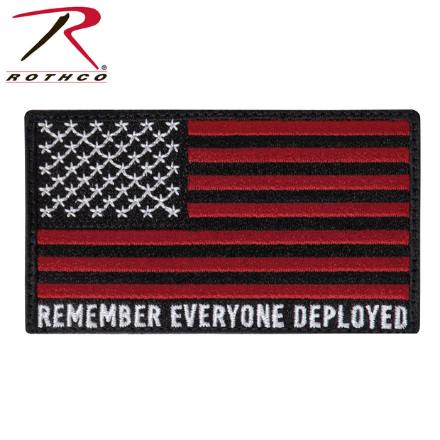 Rothco R.E.D. (Remember Everyone Deployed) Flag Patch With Hook Back