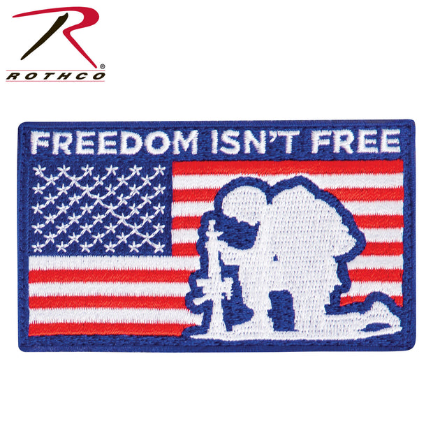 Rothco Freedom Isn't Free Patch With Hook Back