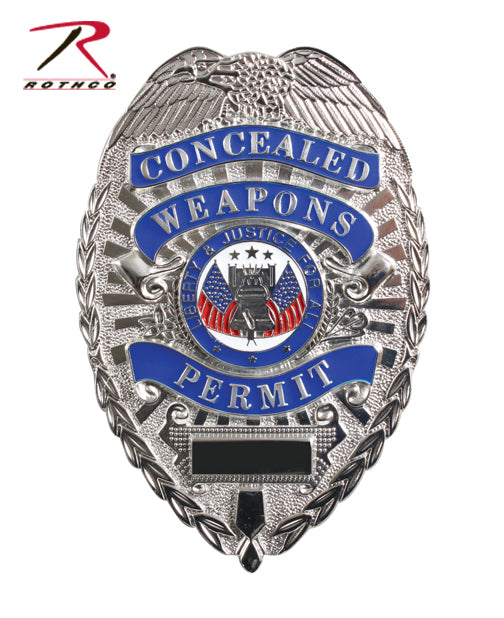 "Rothco Deluxe ""Concealed Weapons Permit"" Badge"