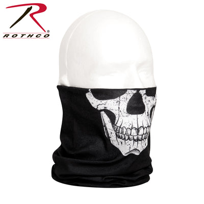 Rothco Multi-Use Neck Gaiter and Face Covering Tactical Wrap - Skull Print