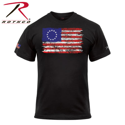 Rothco Colonial Betsy Ross Flag T-Shirt - Black