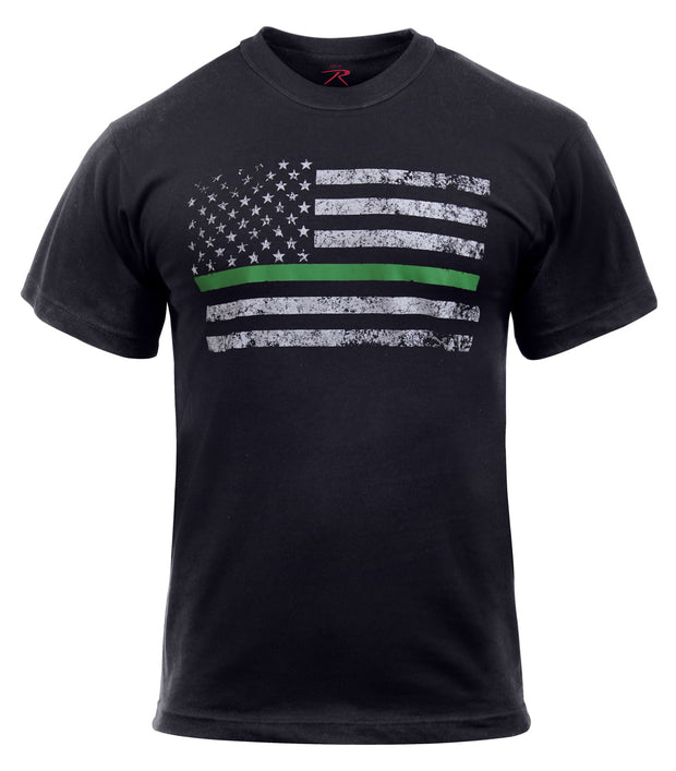 Rothco Thin Green Line Distressed Flag T-Shirt