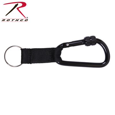 Rothco 80mm Locking Carabiner With Web Strap Ring