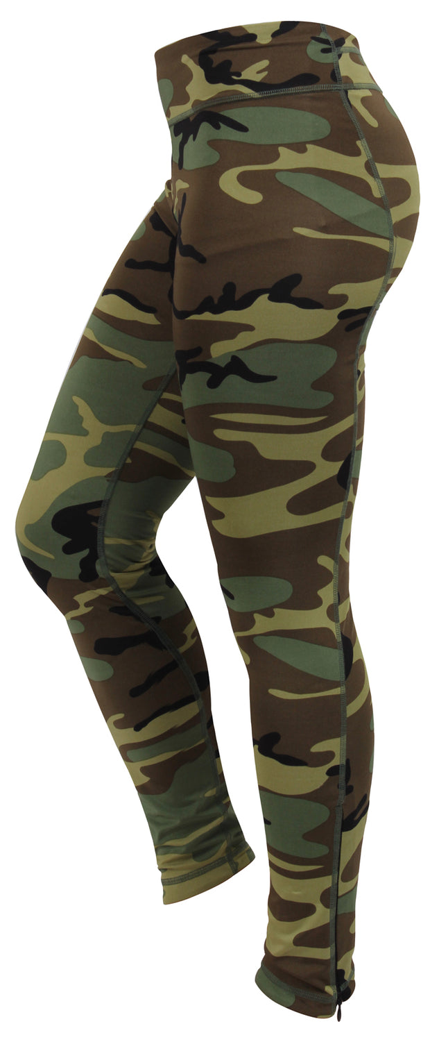 Rothco Womens Camo Performance Workout Leggings