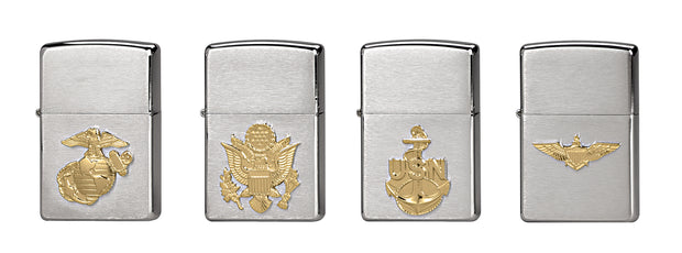 Zippo Military Crest Lighters