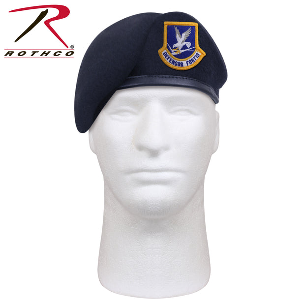 Rothco Inspection Ready Beret With USAF Flash - Midnight Navy Blue