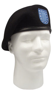 Rothco Inspection Ready Black Beret With Flash
