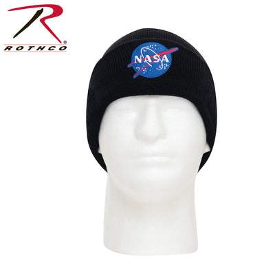 Rothco Deluxe NASA Meatball Logo Embroidered Watch Cap - Black