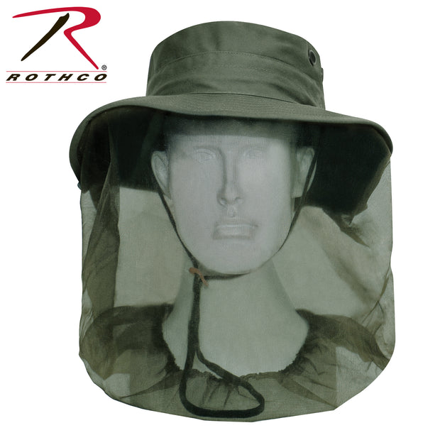 Rothco Adjustable Boonie Hat With Mosquito Netting - Olive Drab
