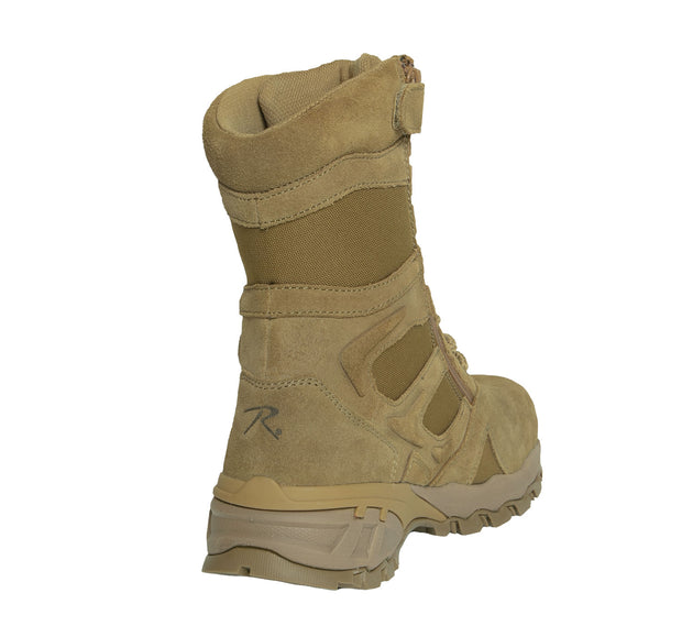 "Rothco 8"" Forced Entry Composite Toe AR 670-1 Coyote Brown Tactical Boot"