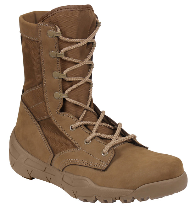 Rothco Waterproof V-Max Lightweight Tactical Boots - AR 670-1 Coyote Brown