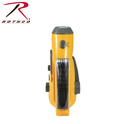Rothco Solar-Wind Up Flashlight with Radio