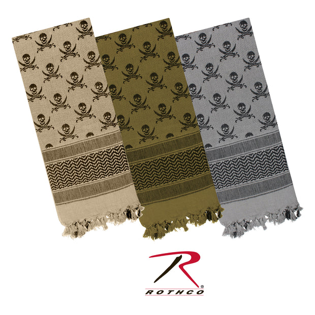 Rothco Skulls Shemagh Tactical Desert Keffiyeh Scarf
