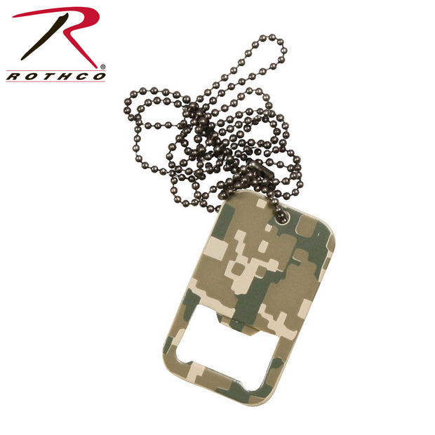 Rothco Dog Tag Bottle Opener With Chain