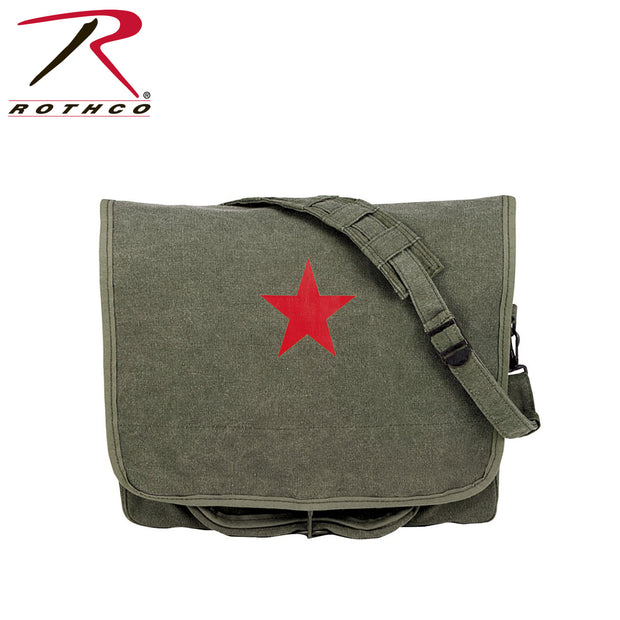 Rothco Vintage Canvas Shoulder Bag With Red Star