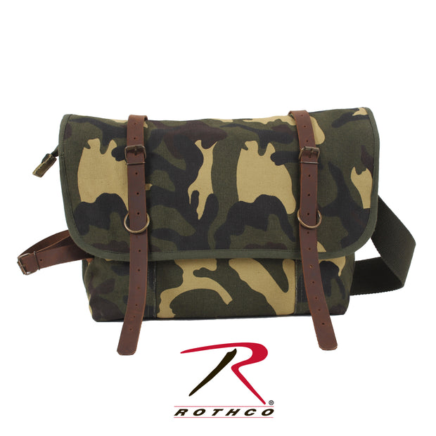 Rothco Vintage Canvas Explorer Shoulder Bag With Leather Accents