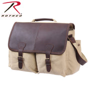 Rothco Vintage Leather Flap Messenger Bag