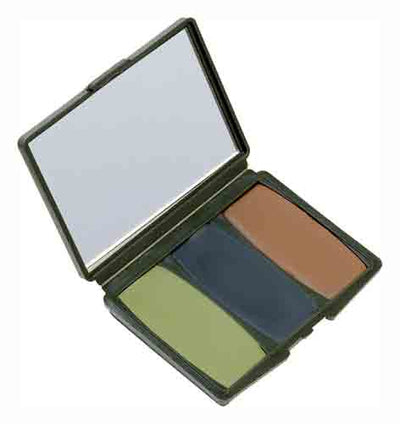 Hs Face Paint Camo Compacs - Woodland-browngreenblack