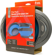 Arb Sol Flat Pack Bowl Combo - W-small & Large Bowl-strainer