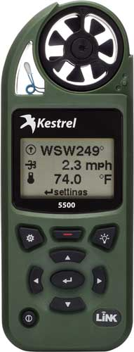 Kestrel 5500 Weather Meter W- - Link And Vane Mount Olive Drab