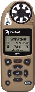 Kestrel 5500 Weather Meter W- - Link And Vane Mount Desert Tan