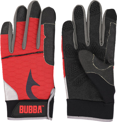 Bubba Blade Fillet Gloves - Xx-large W-red Non Slip Grip