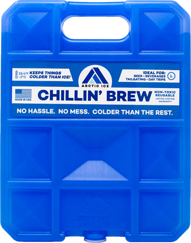 Arctic Ice Chillin Brew Large - 2.5lb Reusable Refrige Temp