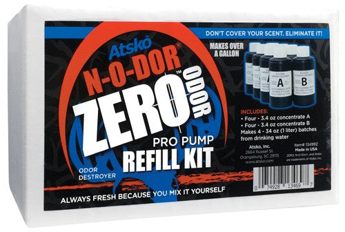 Atsko Zero N-o-dor Oxidizer - Pro Pump Refill Kit Makes 1gal