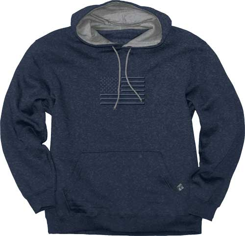 "Buck Wear Hoodie ""stand Proud"" - Flag Vintage Heather Navy Med"