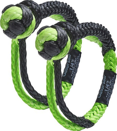 "Bubba Rope Mini Gator Jaw 1-4"" - Synthetic Shackles Black-green"