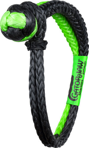 "Bubba Rope Gator Jaw 3-8"" - Synthetic Shackle Black-green"