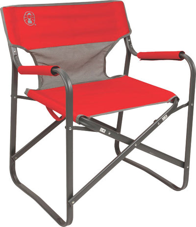 Coleman Steel Deck Chair Red -