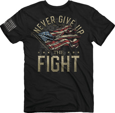 "Buck Wear T-shirt ""never Give - Up"" S-sleeve Black X-large"