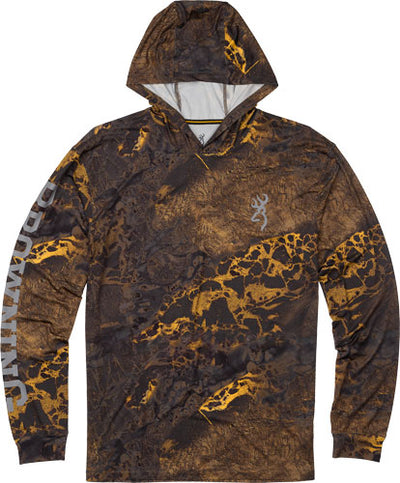Bg Hooded Long Sleeve Tech  T- - Shirt Realtree Wave Xx-large