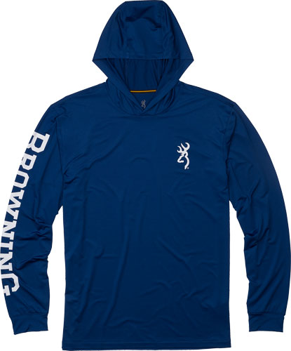 Bg Hooded Long Sleeve Tech  T- - Shirt Navy Blue Large