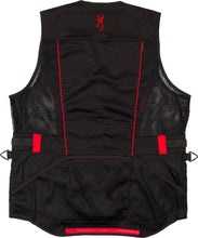 Load image into Gallery viewer, Bg Ace Shooting Vest R-hand - Small Black-red Trim