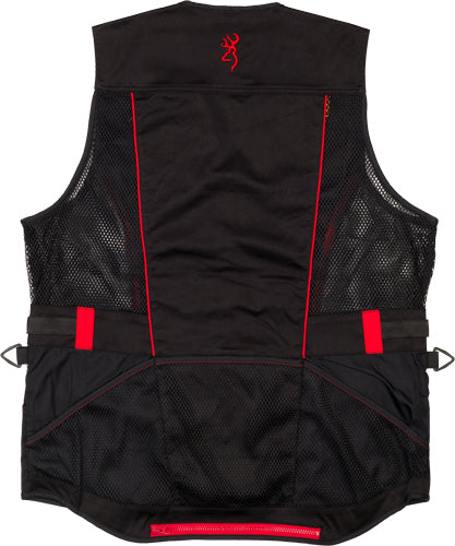 Bg Ace Shooting Vest R-hand - Small Black-red Trim
