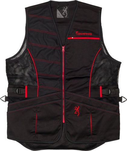 Bg Ace Shooting Vest R-hand - 3x-large Black-red Trim