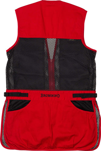 Bg Mesh Shooting Vest R-hand - Youth's Medium Black-red