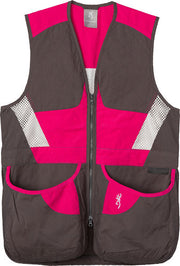 Bg Summit Shooting Vest Womens - Small Smoke-fuchsia