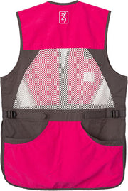 Bg Summit Shooting Vest Womens - X-large Smoke-fuchsia