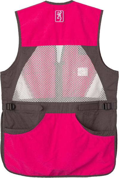 Bg Summit Shooting Vest Womens - Xx-large Smoke-fuchsia