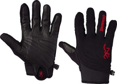Bg Ace Shooting Gloves - Small Black-red Trim