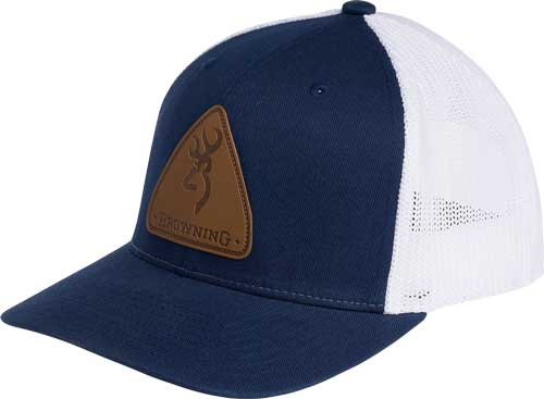 Bg Cap Slug Mesh Back Blue - W-leather Patch Adjustable