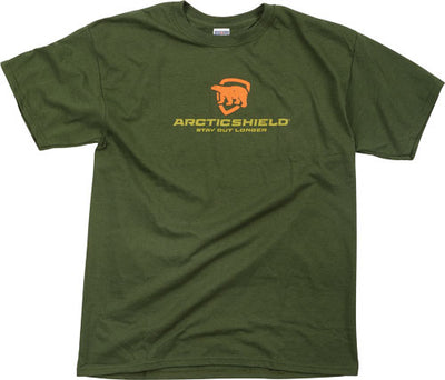 Arctic Shield Ss T-shirt W- - Logo Winter Moss Large