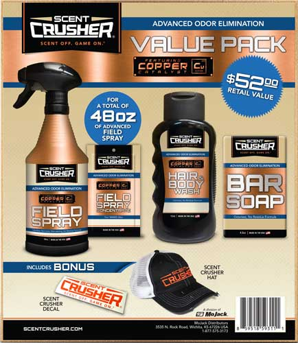 Scentcrusher Field Spray Value - Pack W-free Hat & Decal