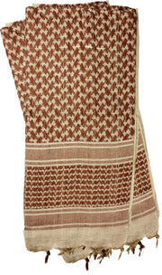 Red Rock Shemagh Head Wrap - Tan-brown
