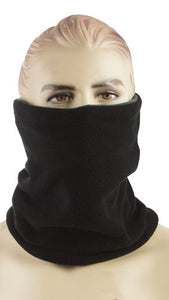 Red Rock Fleece Neck Gaiter - Black Reverses To Gray