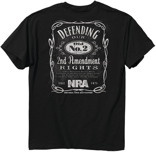 "Buck Wear T-shirt Nra ""old - No.2"" Black Medium"