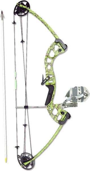 Muzzy Bowfishing Kit Vice - Compound W-xd Pro Reel Green